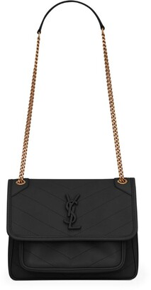 Saint Laurent Small Leather Niki Shoulder Bag