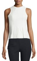 Alexander Wang Sleeveless Paneled Stretch Twill Top, Ivory
