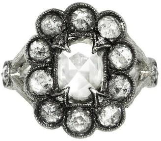 Cathy Waterman Unique Grey Moghul Diamond Lace Edge Ring