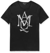 Alexander Mcqueen - Slim-fit Printed Cotton-jersey T-shirt