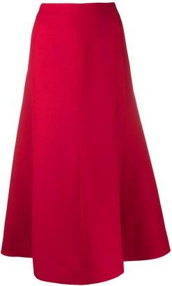 Valentino Full Flared Midi Skirt