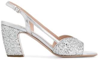 Miu Miu glitter sandals