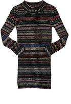 Milly Metallic-Striped Rib-Knit Sweaterdress