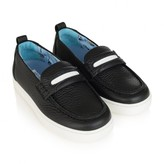 Boys Black Leather Shoes