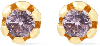 Cornelia Webb 24-karat Gold-plated Siamite Earrings
