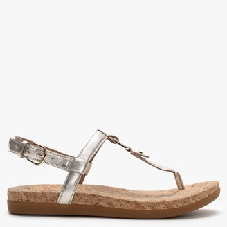 UGG Aleigh Gold Metallic Leather Sandals