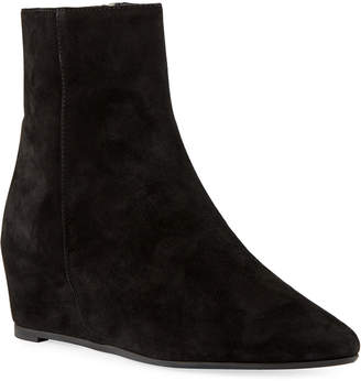 Aquatalia Palmer Low Wedge Suede Booties