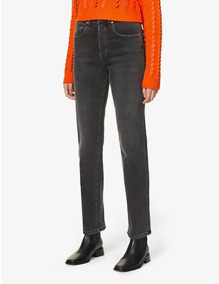 3x1 Sabina Girlfriend straight-leg mid-rise stretch-denim jeans