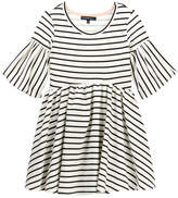 My Michelle mymichelle Striped Puff Sleeve Dress (Big Girls)