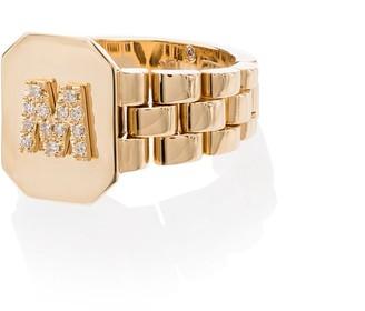 Shay 18kt Yellow Gold Diamond Signet Ring