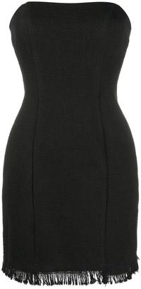 FEDERICA TOSI Strapless Tweed Mini Dress