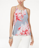 INC International Concepts Petite Floral-Print Halter Top, Only at Macy's