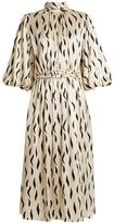 Joseph Owen high-neck zebra-print silk dress