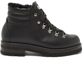 Montelliana Tom Shearling-lined Lace-up Leather Boots - Mens - Black