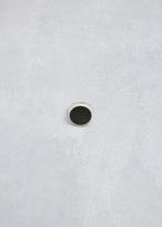 Maison Margiela silver/black round enamel ring