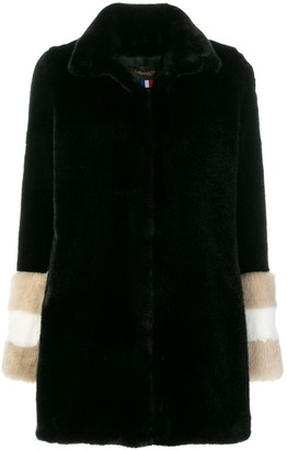 La Seine & Moi Carene fur-sleeved coat