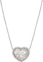 Susan Foster Diamond slice & white-gold necklace
