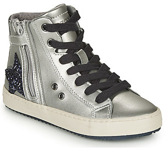 Geox KALISPERA girls's Shoes (High-top Trainers) in Silver