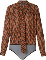 Andrea Marques - tie detail printed body - women - Viscose - 38