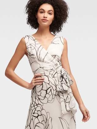 DKNY Webbed Floral Maxi Dress
