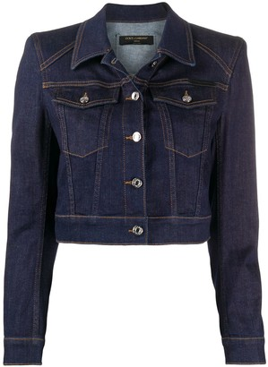 Dolce & Gabbana Structured Cropped Denim Jacket