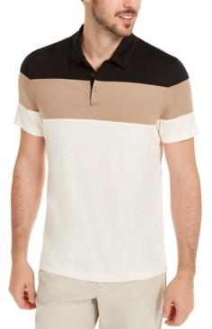 Alfani Men's Colorblocked Polo Shirt, Created for Macy's