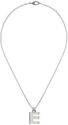 """Gucci Silver """"E"""" letter necklace"""