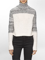 Calvin Klein Textured Chunky Turtleneck Sweater