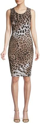 Roberto Cavalli Leopard-Print Bodycon Dress