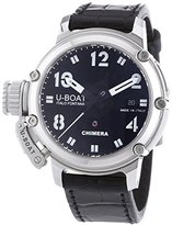 U-Boat Chimera Automatic Black Dial Black Leather Mens Watch 7228