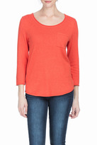 Lilla P 3/4 Sleeve Scoop Neck Sweater