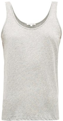Skin - Scoop-neck Cotton-jersey Tank Top - Womens - Light Grey