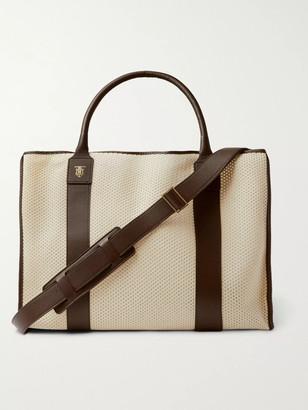 Montroi Elektra Leather-Trimmed Mesh Tote Bag