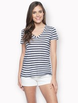 Splendid Venice Stripe V-Neck Tee