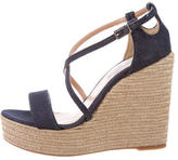 Tabitha Simmons Denim Wedge Sandals