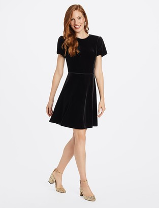 Draper James Velvet V-Back Dress