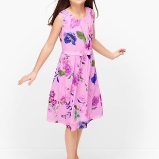 Talbots Girls Botanical Fit & Flare Dress