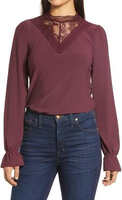 Halogen Lace Knit Top