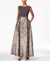 Calvin Klein Printed A-Line Gown
