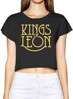 ZZYY Soft Kings Of Leon Rock Band Word Logo Bare Midriff Womens Basic Short Sleeve Round Collar Size S