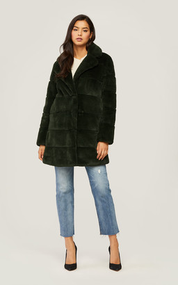 Soia & Kyo JOAN above-knee-length faux fur coat with notch collar