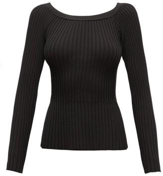 Altuzarra Sweetwater Off-the-shoulder Ribbed-knit Top - Womens - Black