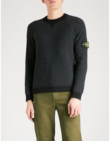 Stone Island Chain-knit wool and cashmere-blend jumper