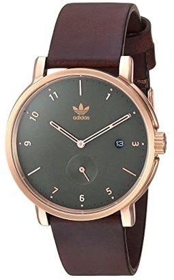 adidas District_LX2 (Rose Gold/Olive/Brown) Watches
