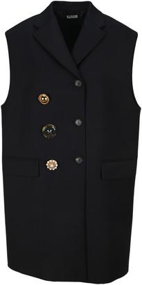 Miu Miu Sleeveless Double-breasted Coat