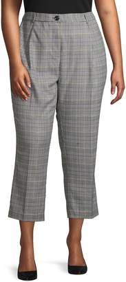 Vince Camuto Plus Glen Plaid Cropped Pants