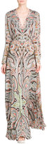 Etro Printed Silk Jersey Maxi Dress