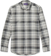 Ralph Lauren Purple Label - Stewart Checked Cotton And Cashmere-blend Shirt