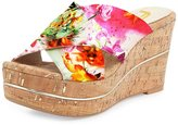 FSJ Women Multicolored Floral Wedges Sandals Platform High Heels Casual Summer Shoes Size 13