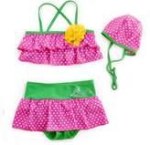 eKooBee 3PC Little Girls Toddler's Dot Swim Suit Bikini Swimming Costume (4-5Year)